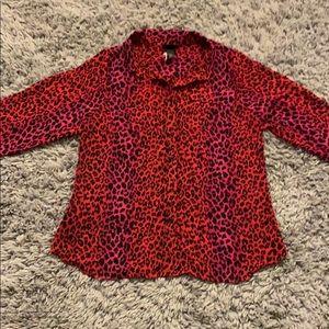 Torrid leopard print plus blouse size 14/16